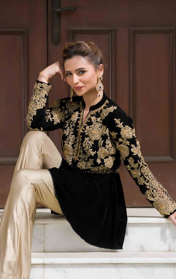 00af47c91f9ea 25 Latest Trends in Pakistani Party Dresses 2018 - Dresses - Crayon