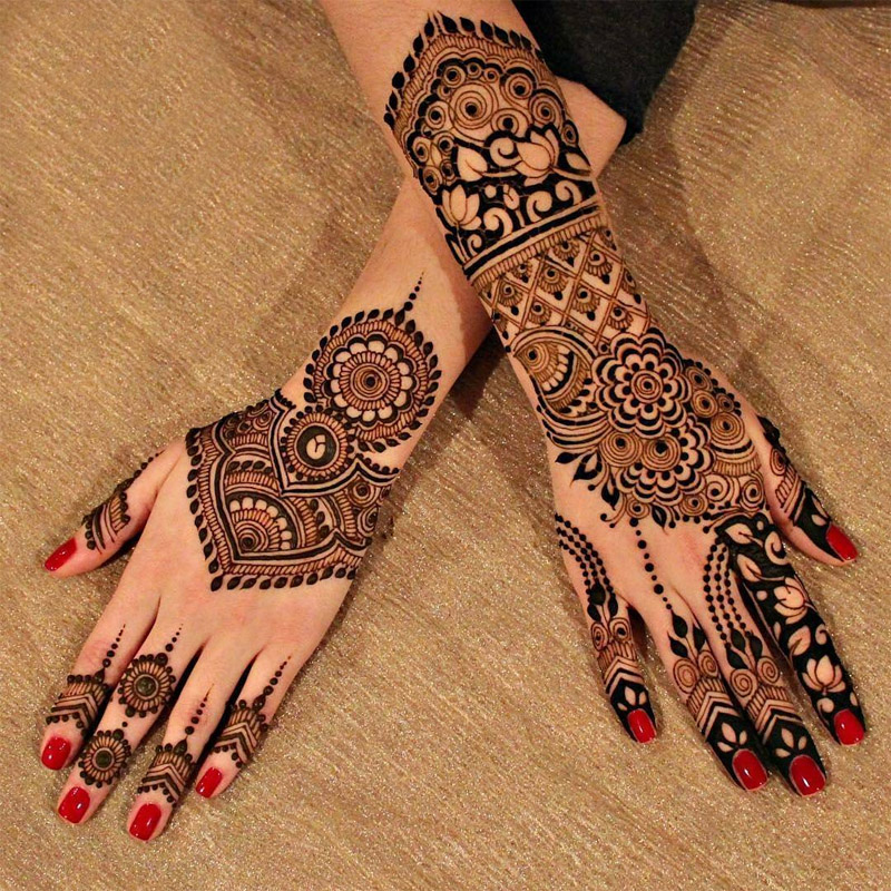 20 Beautful Henna Designs For Nikah: 20 Beautiful Mehndi Designs For New Year 2018