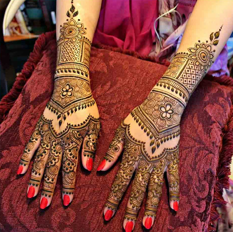 Mehndi Stage Design 2018 : Bridal mehndi designs for full hands crayon