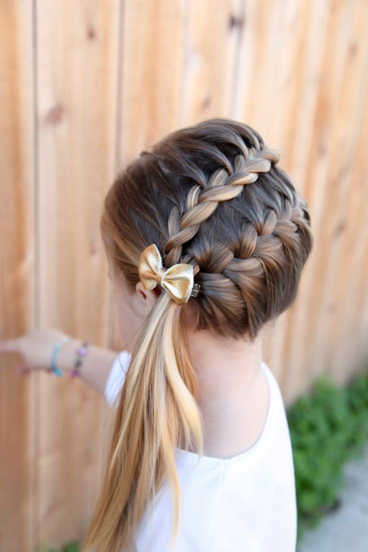 Easy Long Hairstyle For Little Girls 2018 Crayon