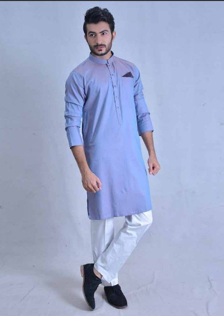194f3647e5 Men Blue Kurta Shalwar Ideas for Eid 2019. This is another charming and  wonderful shalwar kameez plan for a wedding. You can wear this suit in the  every ...