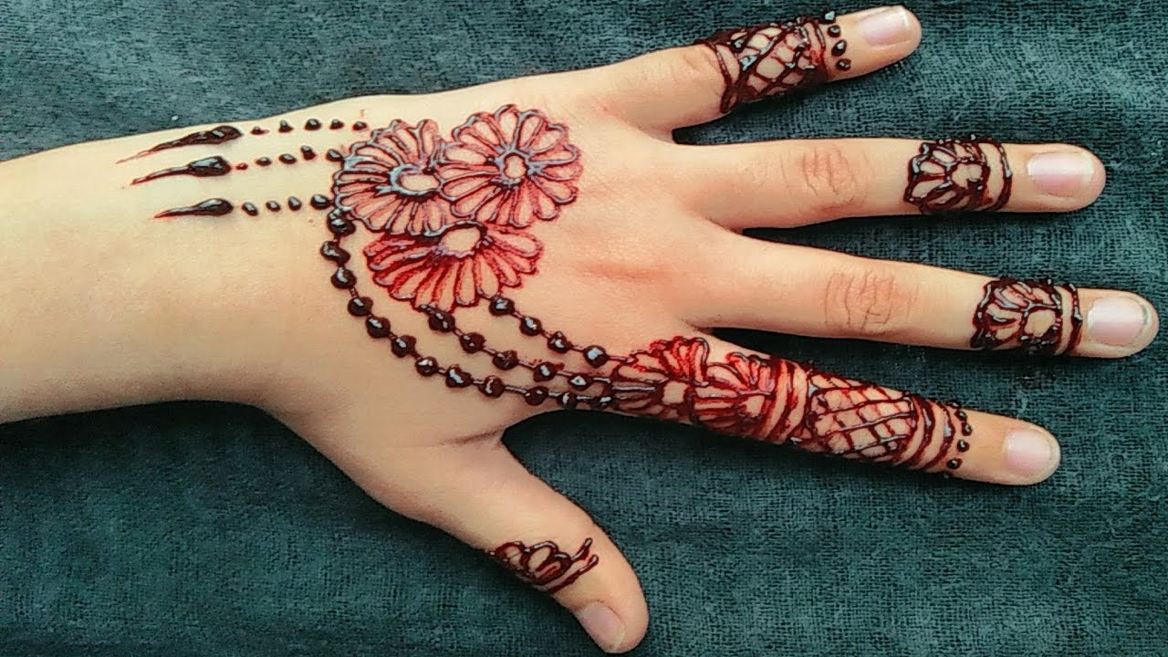 Mehndi Patterns For Girls : Simple mehndi design step by step. easy designs for