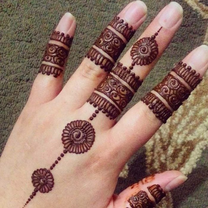 Arabic Henna Design For Fingers Crayon
