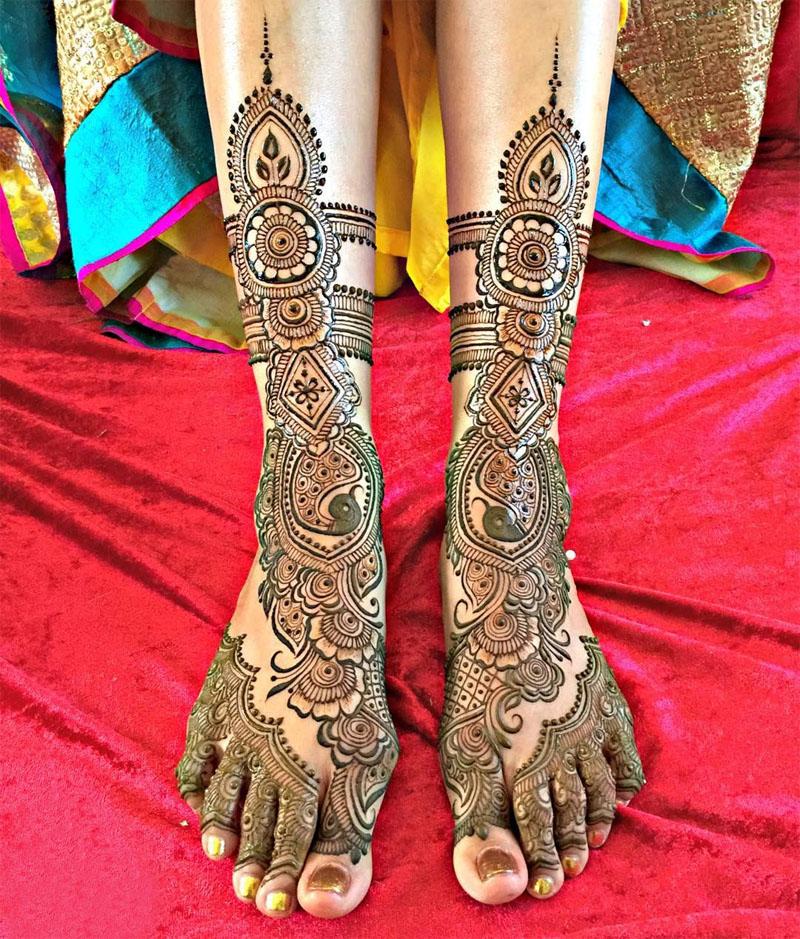 15 Beautiful Leg Mehndi Designs Collection Mehndi Crayon