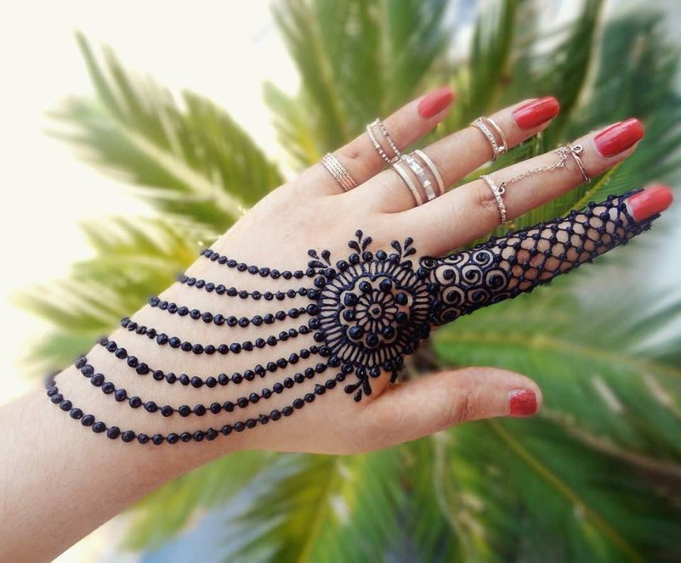 Mehndi Party Meaning : Stylish back hand mehndi designs for ladies crayon