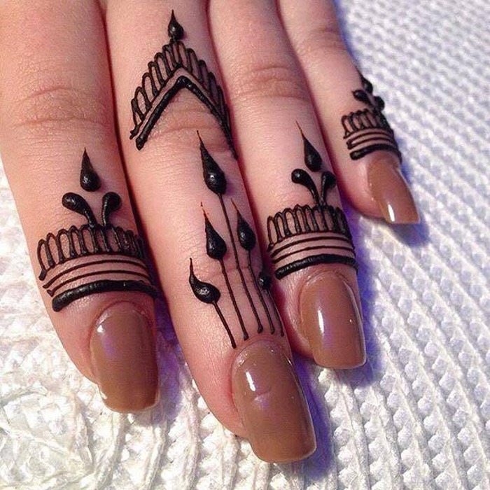 25 Latest Finger Mehndi Designs For 2018 Mehndi Crayon