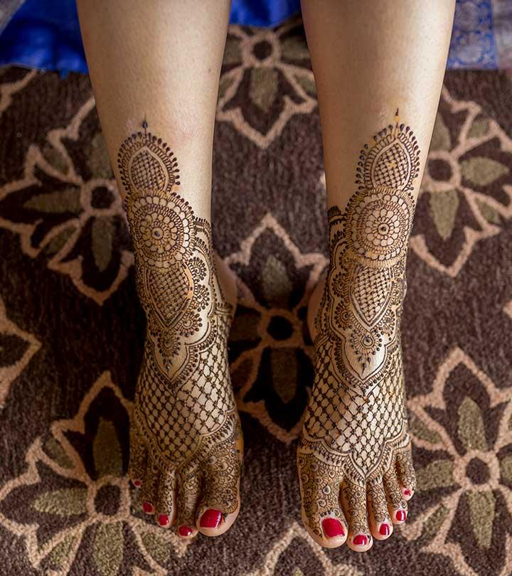 15 Beautiful Leg Mehndi Designs Collection