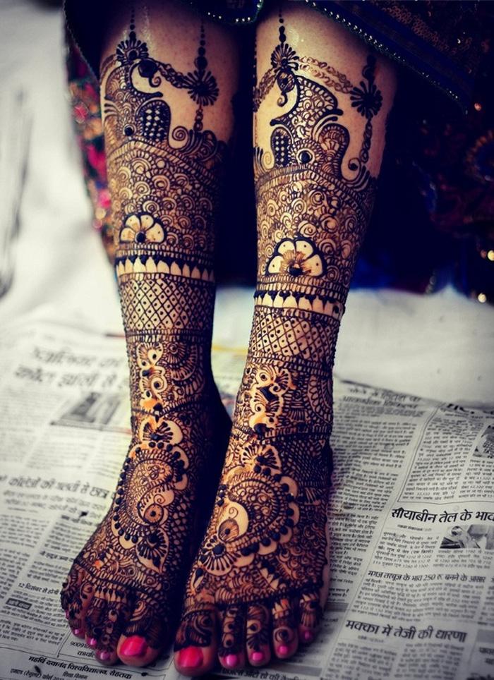 15 Beautiful Leg Mehndi Designs Collection - Mehndi