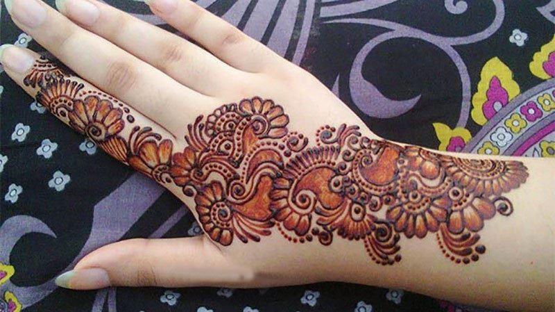 Mehndi Patterns : Cool arabic mehndi patterns for back hand crayon