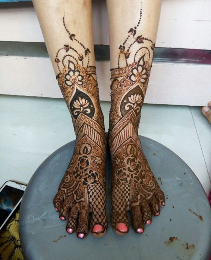 Easy Legs Henna Designs Ideas Crayon