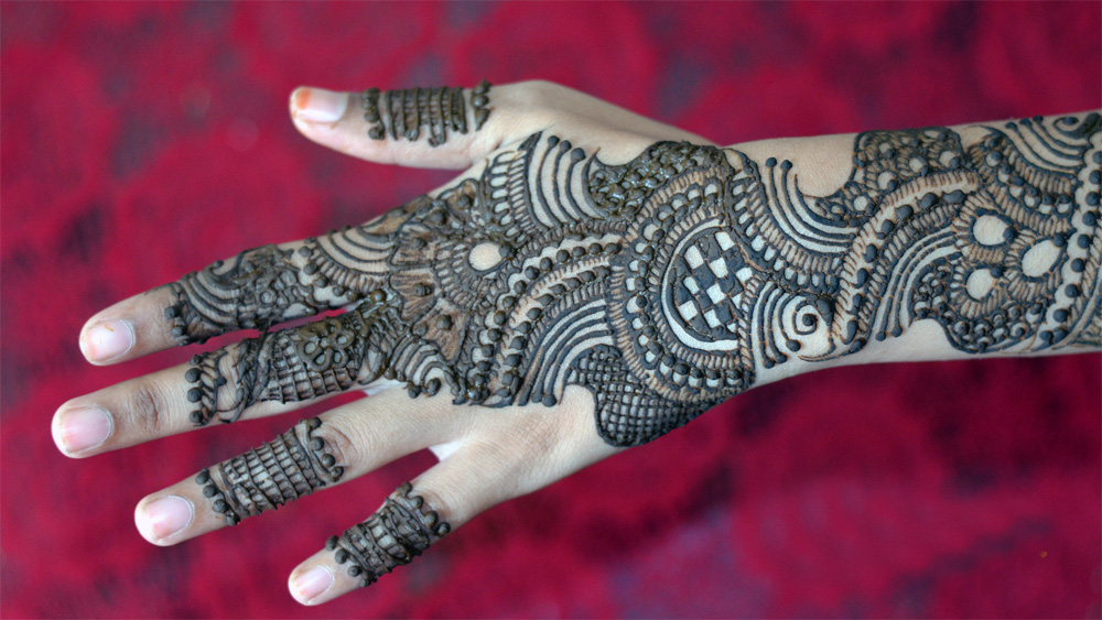 Mehndi Hands Designs : Full back hand arabic mehndi designs crayon