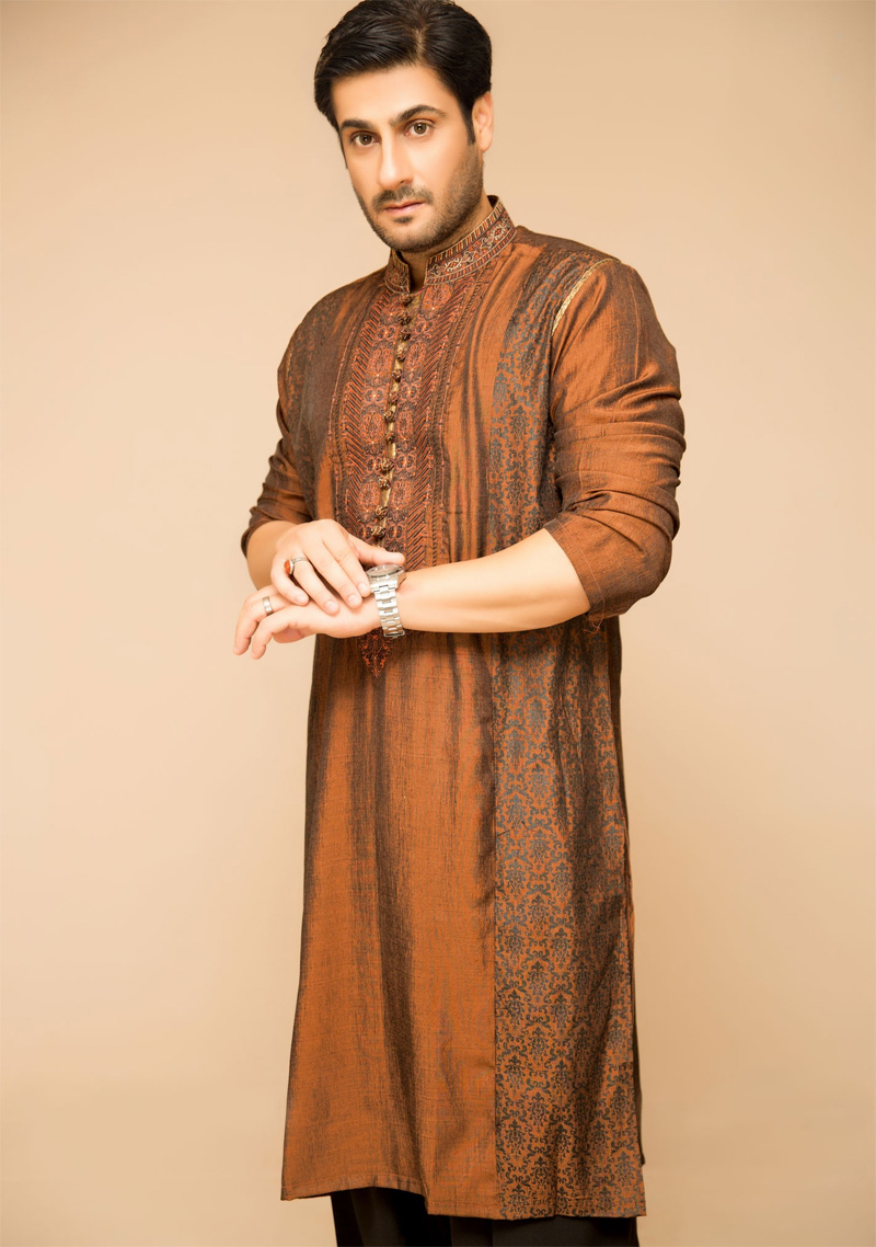 Mehndi Kurta For Mens : Latest mens mehndi dresses collection crayon