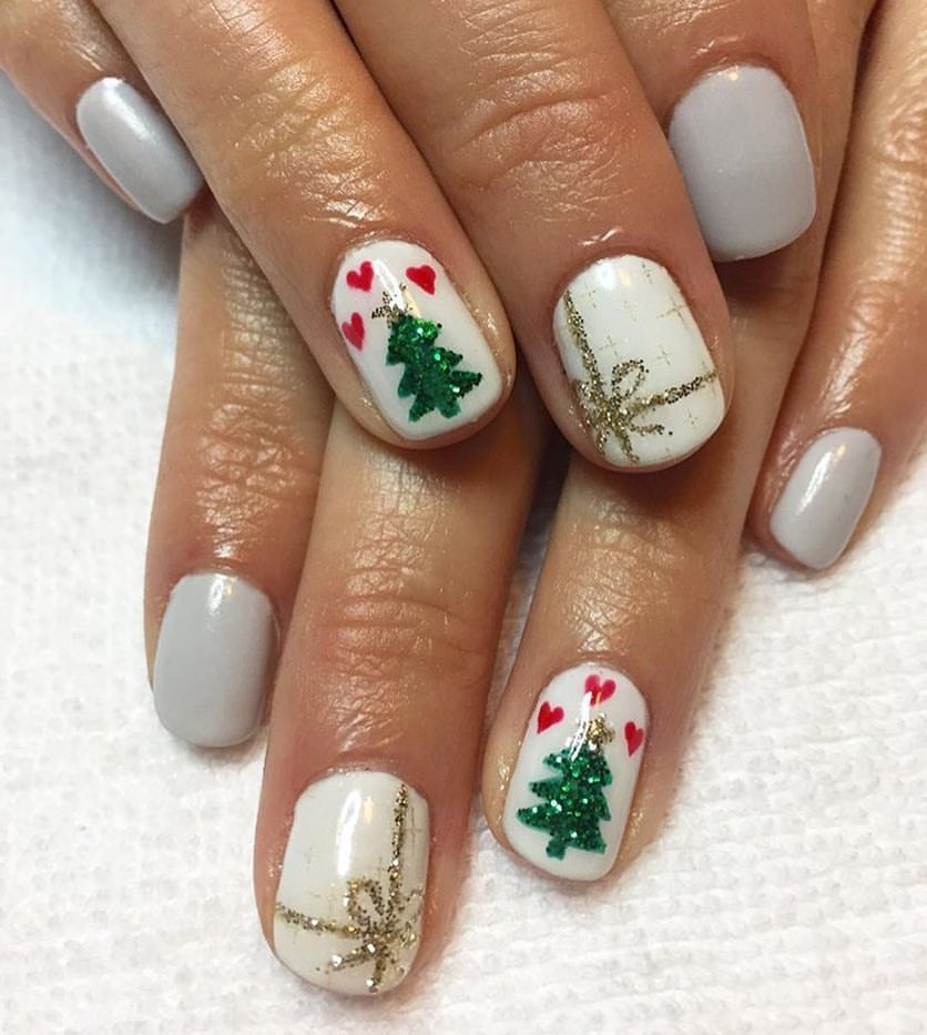 20 Cute Nail Designs For Christmas 2018 Nail Art Crayon