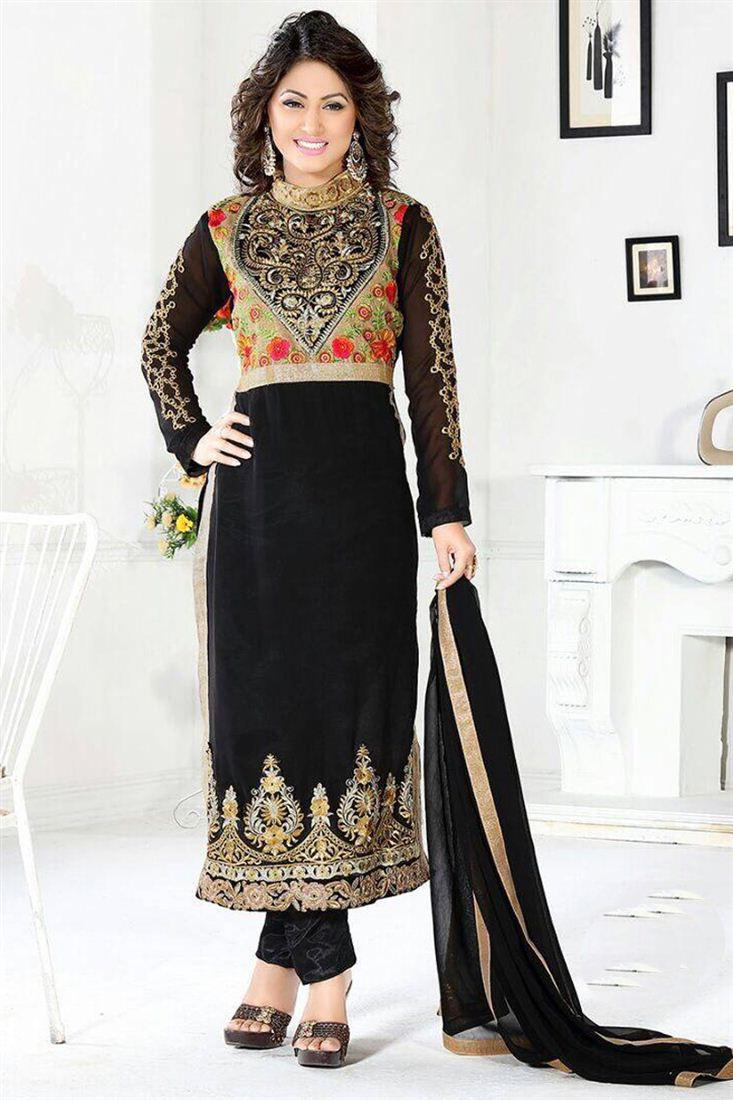 3829a90a48e 25 Beautiful Black Shalwar Kameez Designs for Girls - Dresses - Crayon