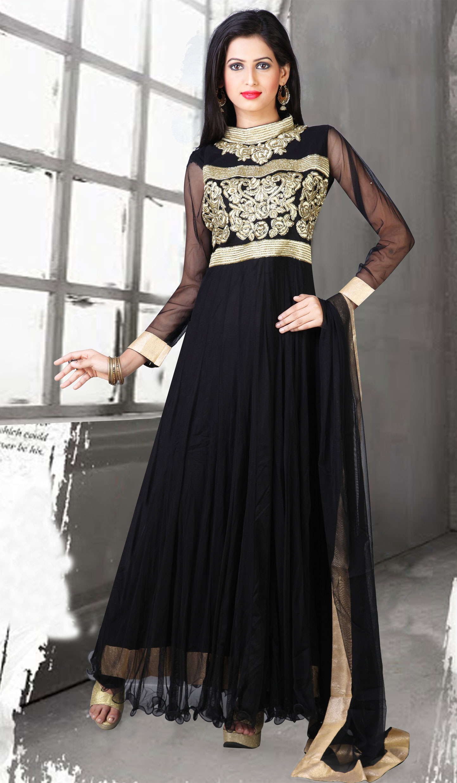 25 beautiful black shalwar kameez designs for girls for Dress dizain photo