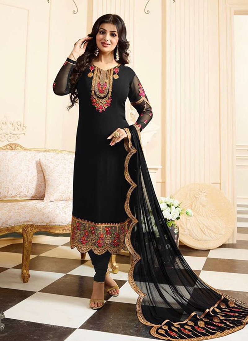 Black Shalwar Kameez Designs for Girls