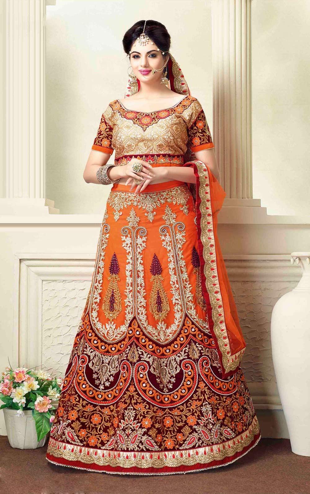 4ae8a01f3e 15 Latest Pakistani Bridal Lehenga Designs 2018 - Dresses - Crayon
