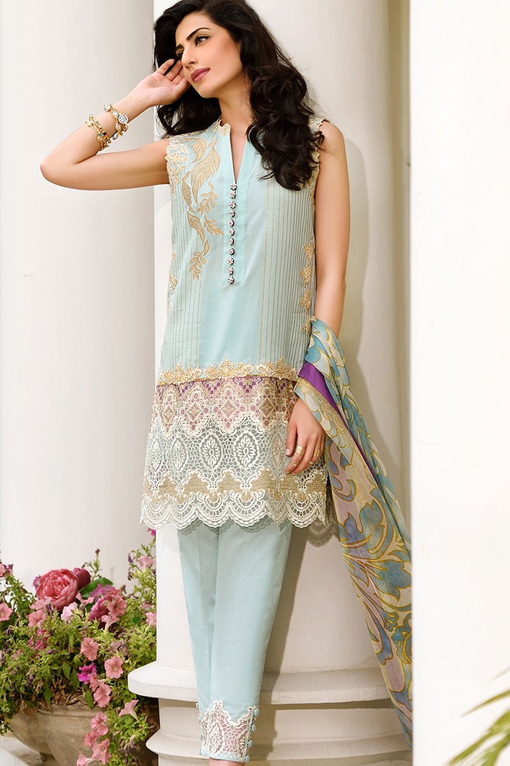 bcd1aadb5 Latest Pakistani Casual Dresses - Crayon