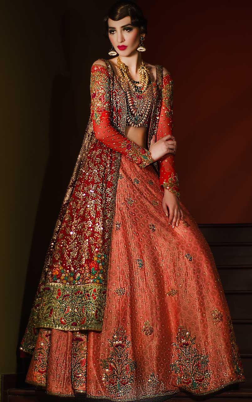 15 Latest Pakistani Bridal Lehenga Designs 2018 - Dresses ...