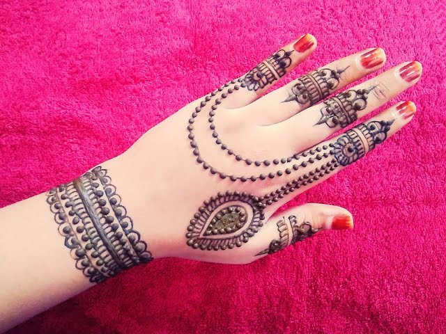 20 Best Pakistani Mehndi Designs For Back Hand - Mehndi