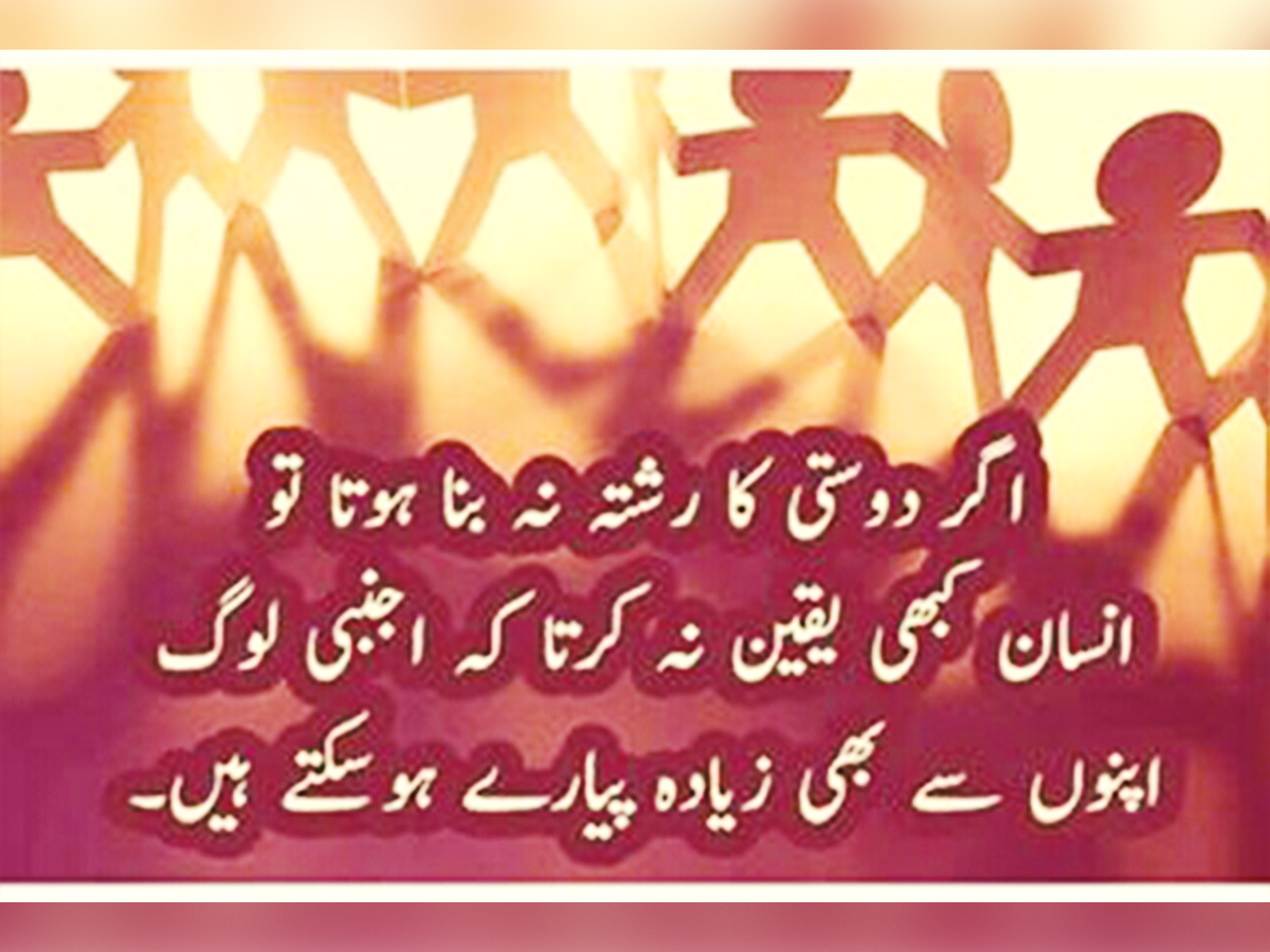 Image result for Best Friendship quote in urdu