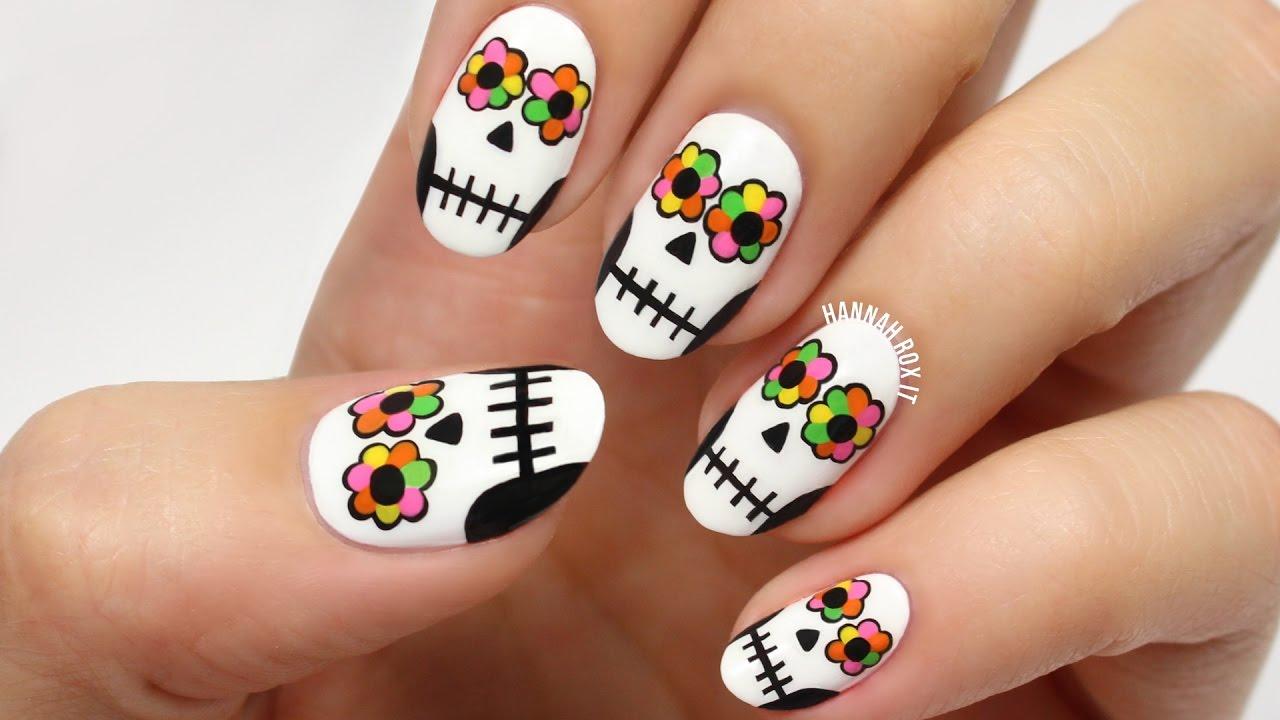 Dia De Los Muertos Nail Designs