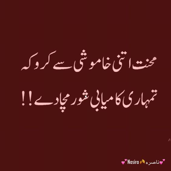 Best Advice Quotes In Urdu: About Hardwork