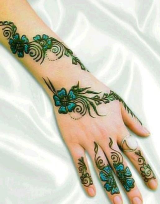 Glitter Henna Designs For Hands