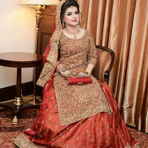 Beautiful Pakistani Engagement Dress - Crayon