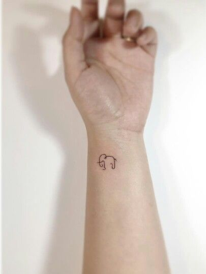 Elegant Mini Elephant Wrist Tattoo Tiny Elephant Tattoos