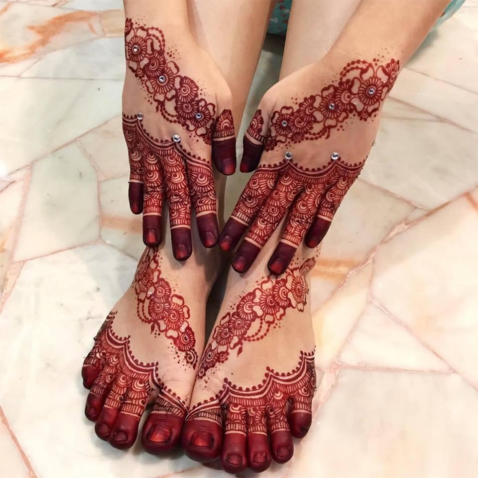 Best Mehndi: 24 Best Hand Foot Matching Mehndi Designs 2018