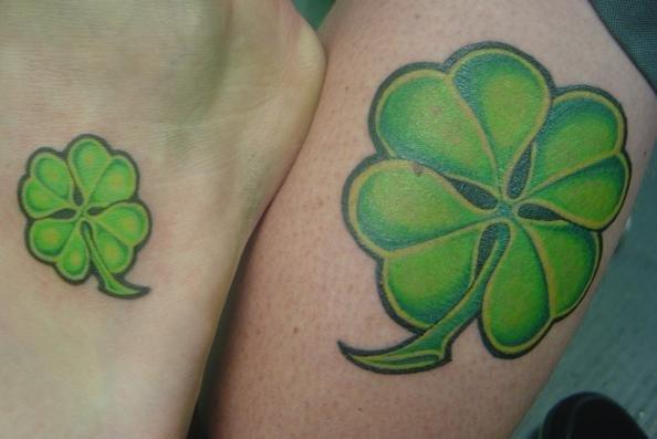 Four Leaf Clover Couple Tattoo Design - Meaningful Couple ...