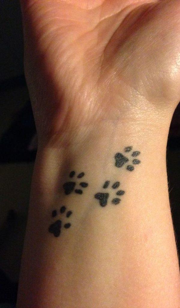 Paw Print Small Tattoo Design