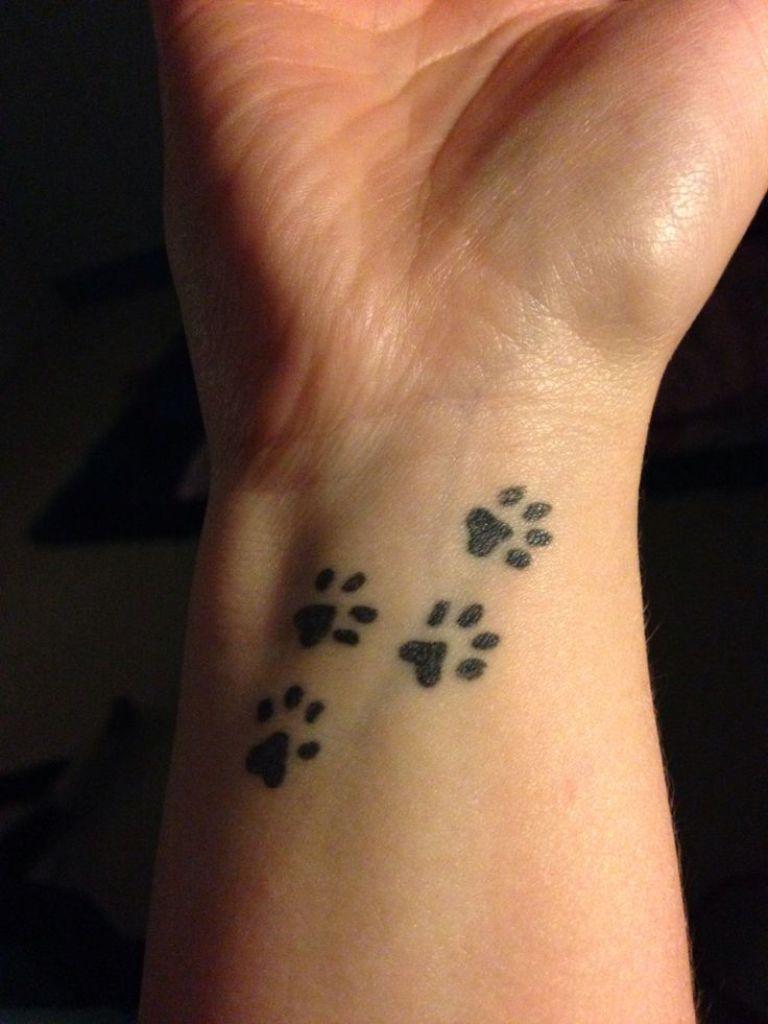 Paw Print Tattoo On Bottom Of Foot: Paw Print Small Tattoo Design