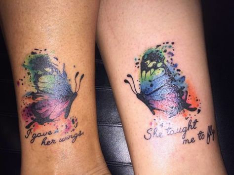0358be5cd6a82 An uncommonly Astounding Butterfly Mother Daughter Tattoo. Amazingly  separating butterfly tattoos look stunning as well! In the long run, ...