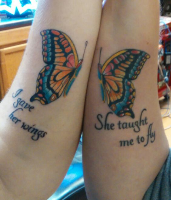 Butterfly Mother Daughter Tattoo Design Mother Daughter Butterfly