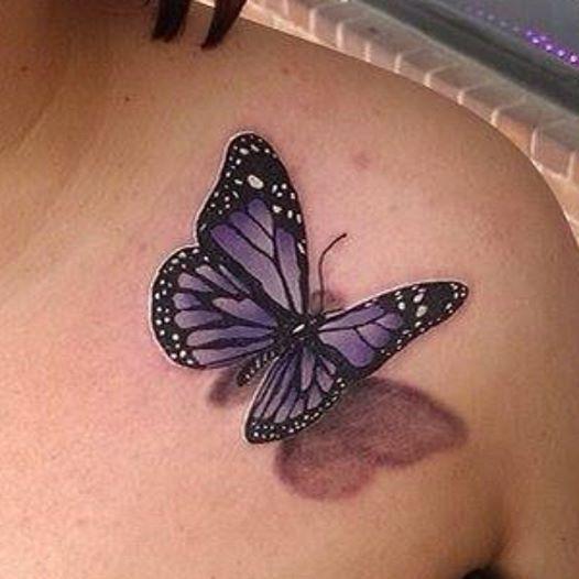 Enchanting Monarch Butterfly Tattoo Design