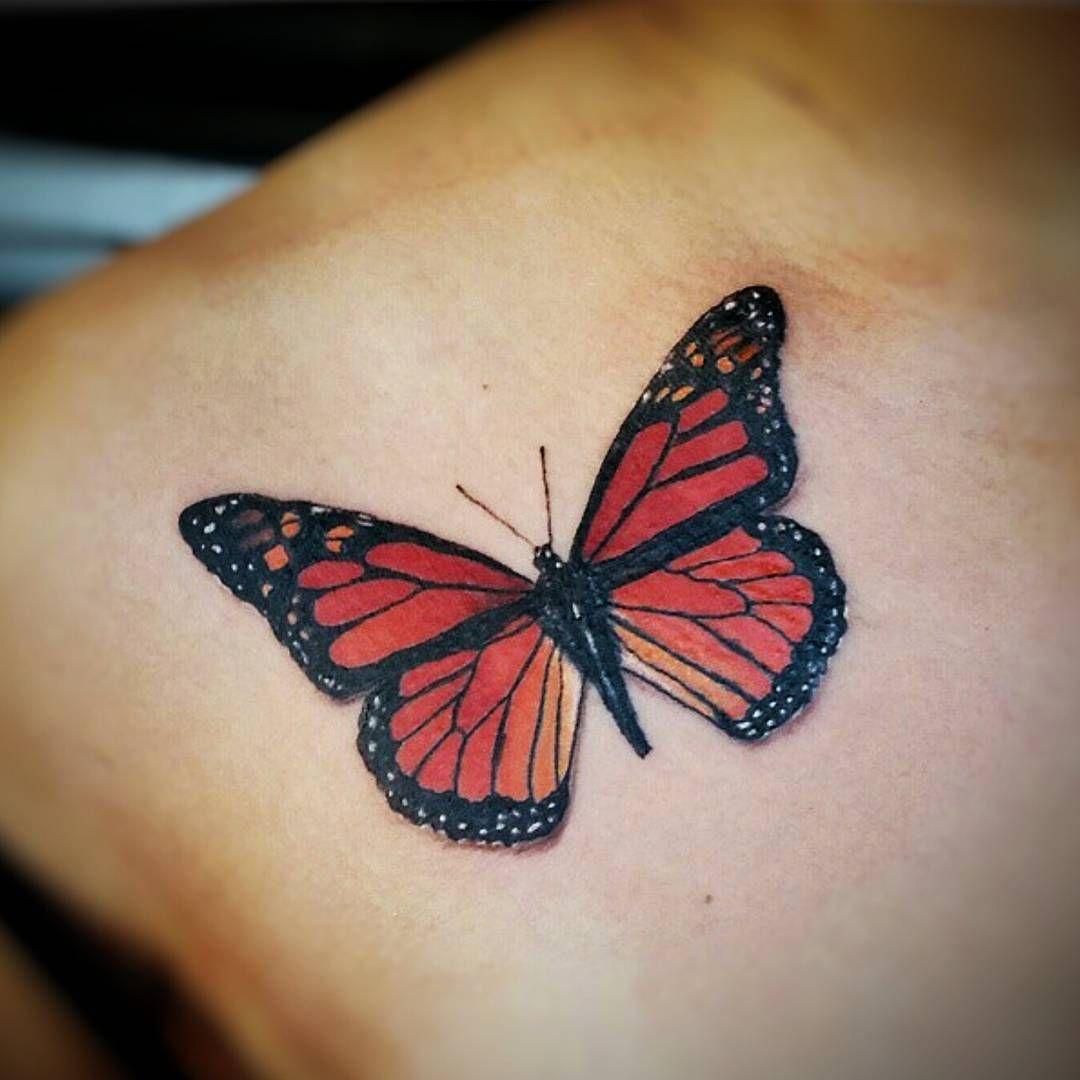 Folks Can Rock Butterflies II Tattoo Design