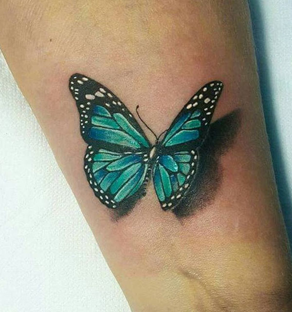 Epic Monarch Butterfly Tattoo