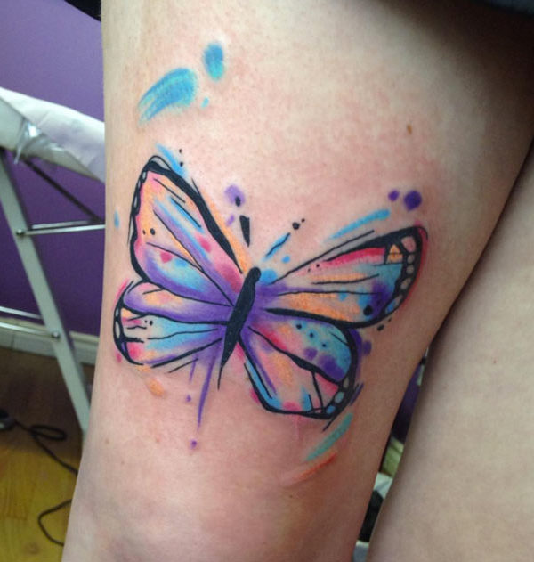 Watercolor Butterfly Tattoos: Watercolor Butterfly Tattoo Design