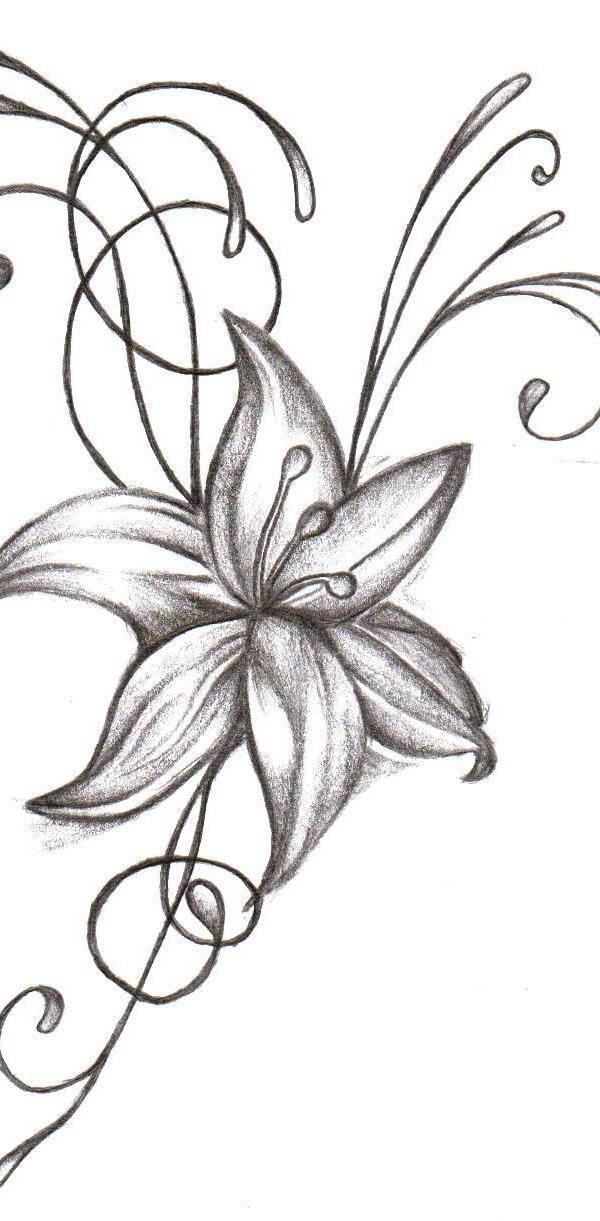 e61d6e8c9 Amazing Flower Tattoo Design - Easy Flower Tattoos - Easy Tattoos ...