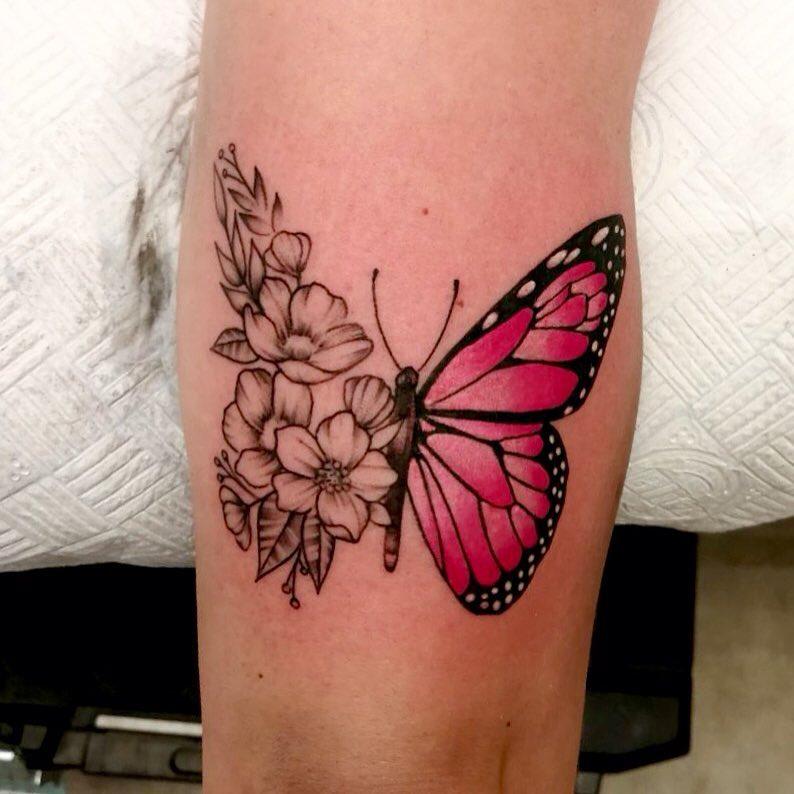 Awe-inspiring Men Butterfly Tattoo Design