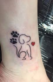 Canine Love Easy Tattoo Design Easy Dog Tattoos Easy Tattoos