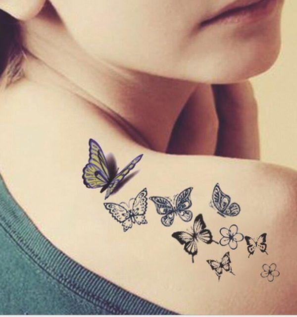 eeccd0d5d Female Butterflies Tattoo Design - Butterfly Tattoos For Females ...