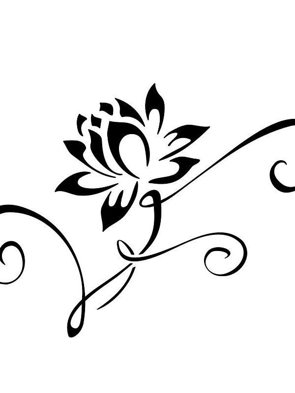 5bae19256 Interesting Ornament of the Flower Tattoo Design - Easy Flower ...