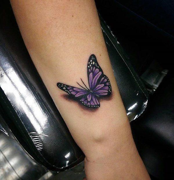 Perfect 3D Men Butterfly Tattoo Design