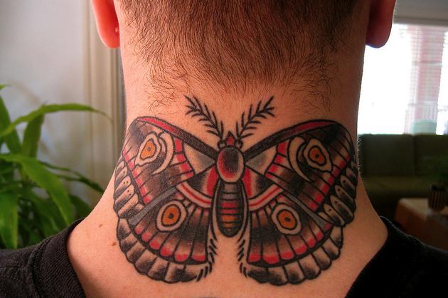 Wonderful Men Butterfly Tattoo Design