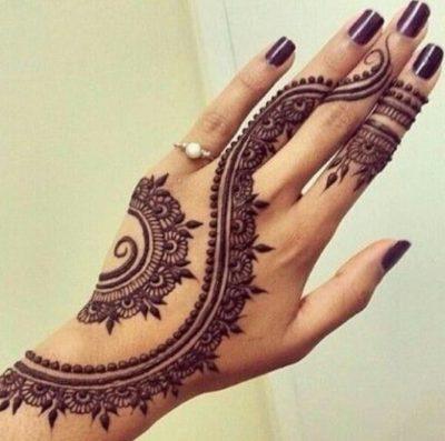 Simple Floral Mehndi Designs