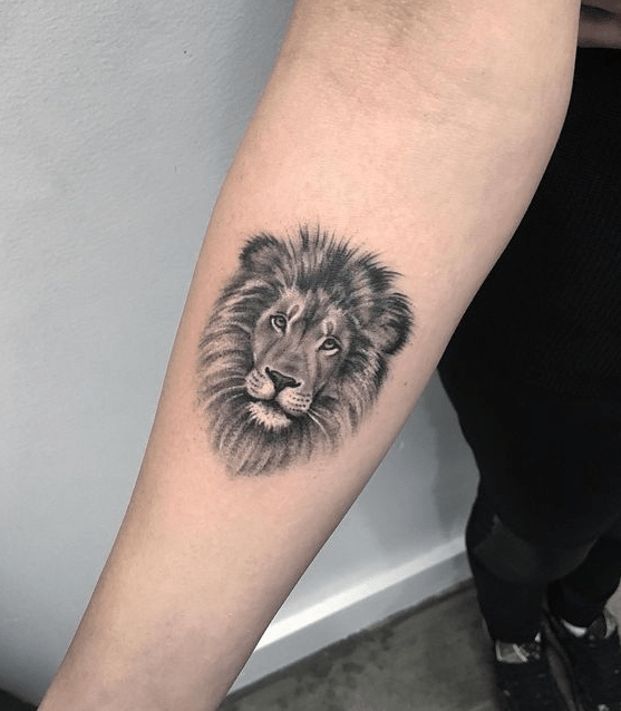 Lion Easy Arm Tattoo Easy Arm Tattoos Easy Tattoos Crayon