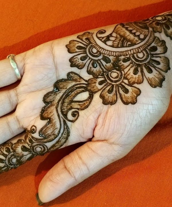 Shaded Front Hand Mehndi Design Front Hand Eid Mehndi Designs